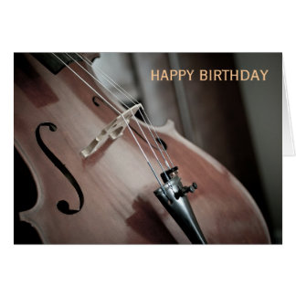 Cello classical music instrument birthday card
