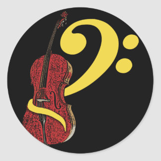 Cello Clef Stickers