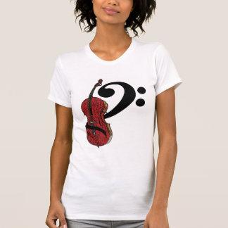 Cello Clef T-shirt - Ladies