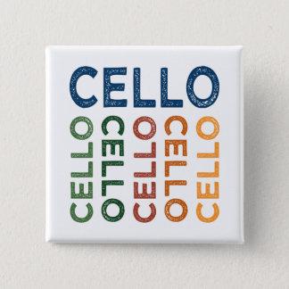 Cello Colorful 2 Inch Square Button