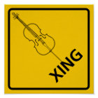 Cello Crossing Highway Sign