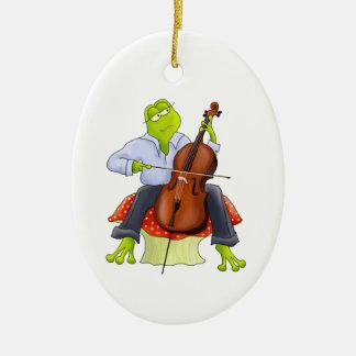 Cello Frog Ornament