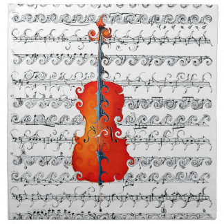 Cello & I Rock!_ Printed Napkin