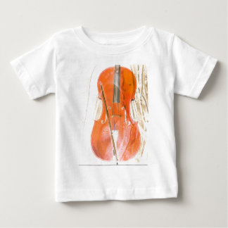 Cello illustration in neutral brown tones baby T-Shirt