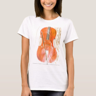 Cello illustration in neutral brown tones T-Shirt