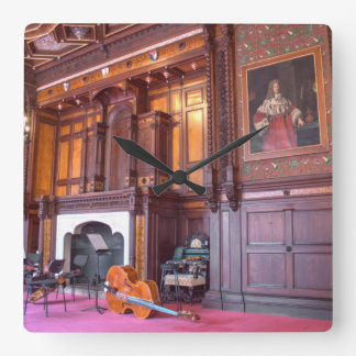 Cello In State Room Square Wall Clock