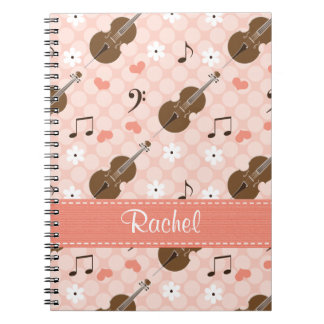 Cello Music Note Spiral Notebook Journal