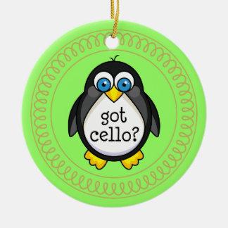 Cello Music Penguin Ornament Gift