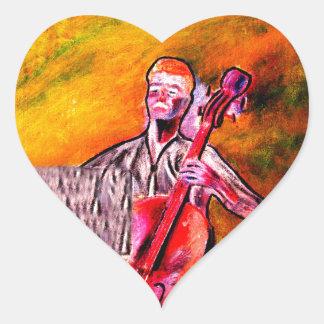 cello musician music orchestra design heart sticker