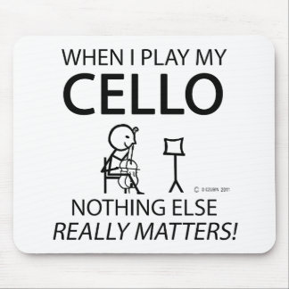 Cello Nothing Else Matters Mousepads