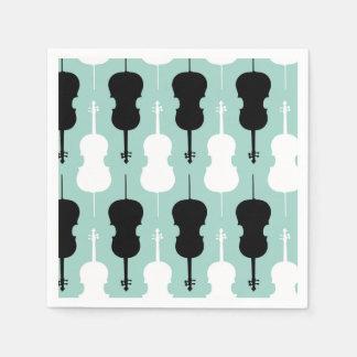 Cello Pattern - Teal Disposable Napkin