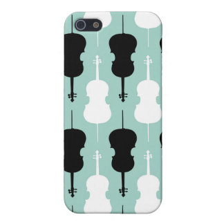 Cello Pattern - Teal iPhone 5 Cases