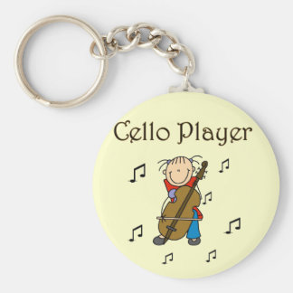 Cello Player Tshirts and Gifts Key Chain