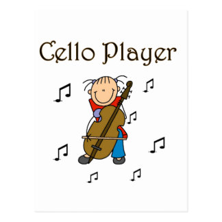 Cello Player Tshirts and Gifts Postcards