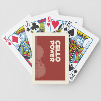 Cello Power! Bicycle Playing Cards