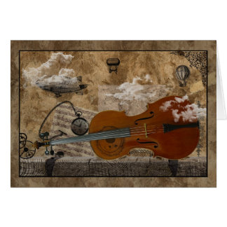 Cello Steampunk Suite Card
