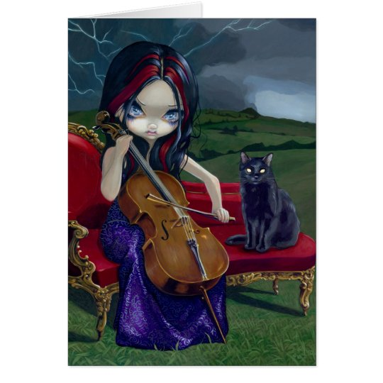 """Cello Storm"" Greeting Card"