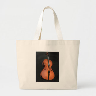Cello Strings Stringed Instrument Wood Instrument Large Tote Bag