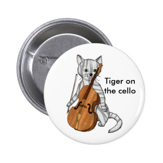 Cello Tiger 2 Inch Round Button