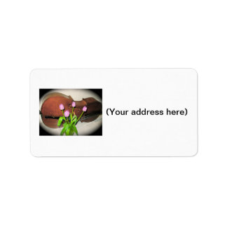 Cello with Tulips address labels