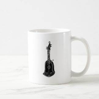 Cello Woodcut Illustration Classic White Coffee Mug