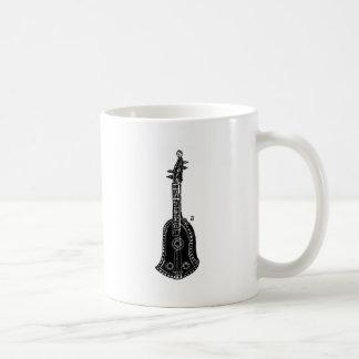 Cello Woodcut Illustration Classic White Coffee Mug
