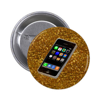 cellphone bling 2 inch round button