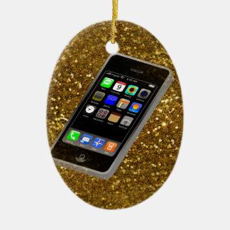 cellphone bling ceramic oval ornament