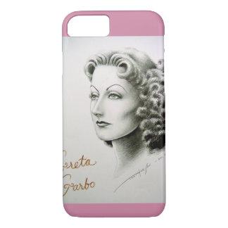 Cellphone case with Greta Garbo portrait.