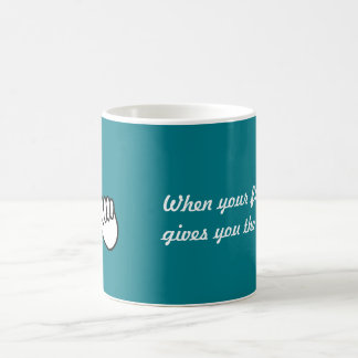 Cellphone humor: Friend Gives You the Finger Coffee Mug