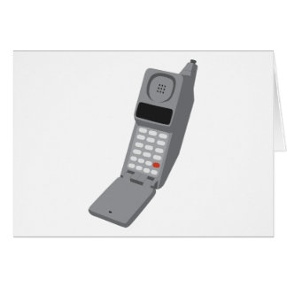 Cellphone - Retro Cell Phone Vintage Telephone Greeting Card