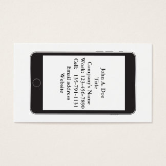 Cellphone Vertical Simple Business Card