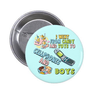 Cellphones and Boys T-shirts and Gifts For Her 2 Inch Round Button