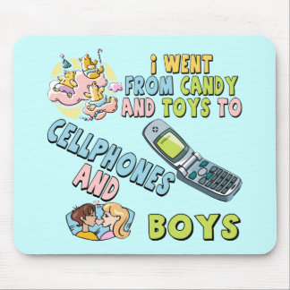 Cellphones and Boys T-shirts and Gifts For Her Mouse Pad