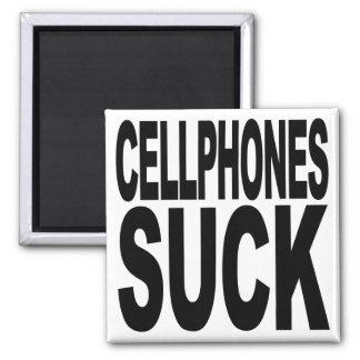 Cellphones Suck Square Magnet