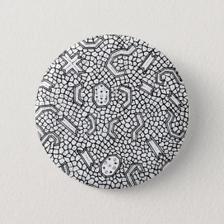 Cellular Indonesian Textile Pattern 2 Inch Round Button