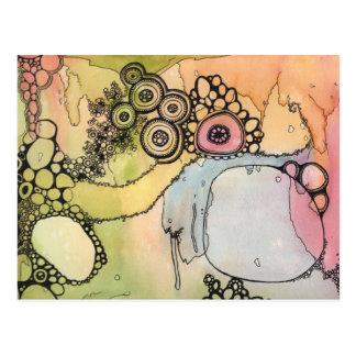 Cellular Mandala Landscape Postcard