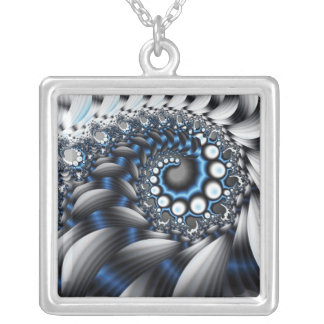 Cellular movement / Cellvandring Silver Plated Necklace