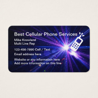 Cellular Phone Service Business Card