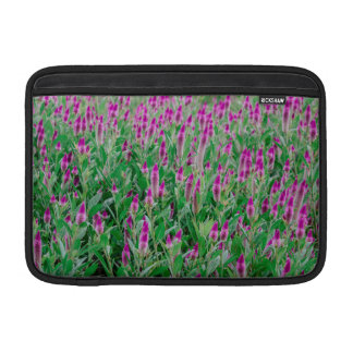 Celosia Flower Field MacBook Sleeve