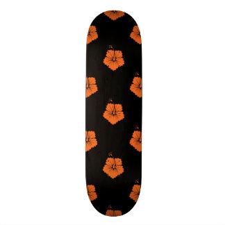 Celosia Orange Flower Pattern 3 Skate Deck