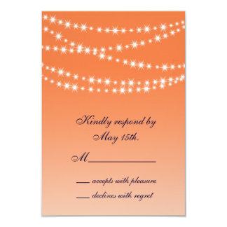 Celosia Orange Twinkle Lights RSVP 3.5x5 Paper Invitation Card