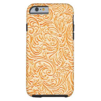Celosia Orange Vintage Scrollwork Graphic Design Tough iPhone 6 Case