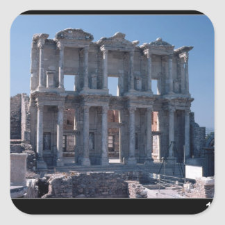 Celsus Library, built in AD 135 Square Sticker