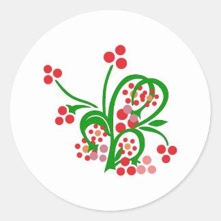 Celt flowers ornamentation celtic flowers round sticker