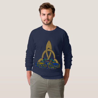 Celt Stone Cats Men's Raglan Sweatshirt