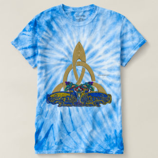 Celt Stone Cats Men's Tie-Dye T-shirt