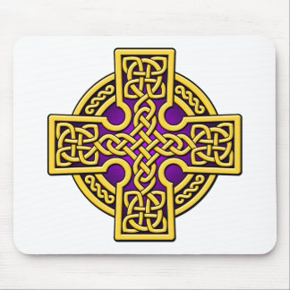 Celtic 4 way gold and purple mouse pad