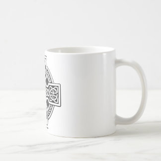 Celtic 4 way silver and grey coffee mug