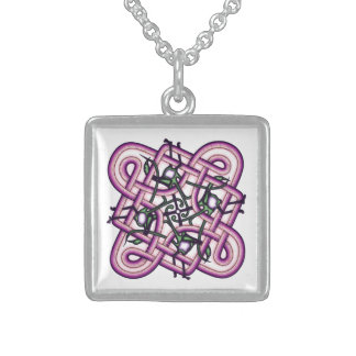 Celtic 8 sterling silver necklace